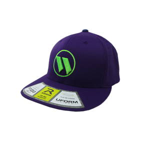 All Purple//Neon Green SM//MD Worth Hat by Richardson PTS30