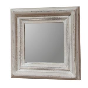 Spiegel Wandspiegel Mangoholz Madera Dekospiegel Natur Weiß Shabby Chic Vintage