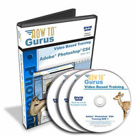 New! Adobe PHOTOSHOP CS4 Computer Video Tutorial Training 25 hours on 3 DVDs