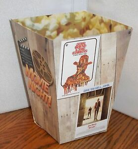 MOVIE POSTERS POPCORN BOX. CASABLANCA, STAGECOACH, COWBOYS, RIO LOBO, WINCHESTER