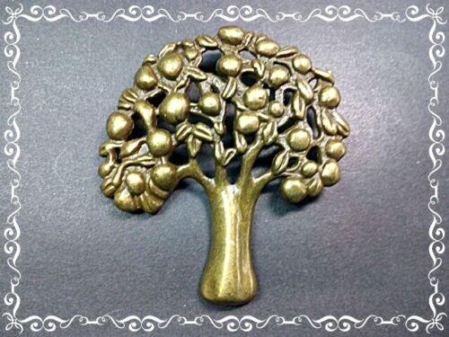 2 XXL árbol colgante 76x63x3mm bronce antiguo look Manzano