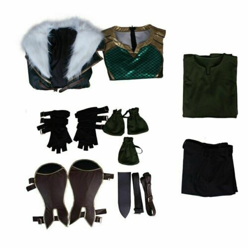 Hot Avengers Thor Loki Laufeyson Odinson Cosplay Costume Long Coat Vest Full Set