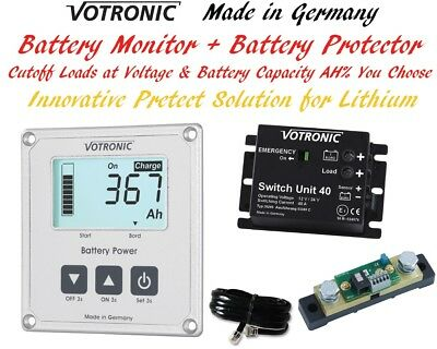 Votronic 12V 24V Lithium LiFePo4 Dual Battery Monitor Overdischarge Protect BMS