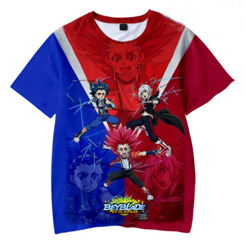 Beyblade Burst Evolution Girl Boys Kids T-Shirt 3D Print Short Sleeve Tee Tops