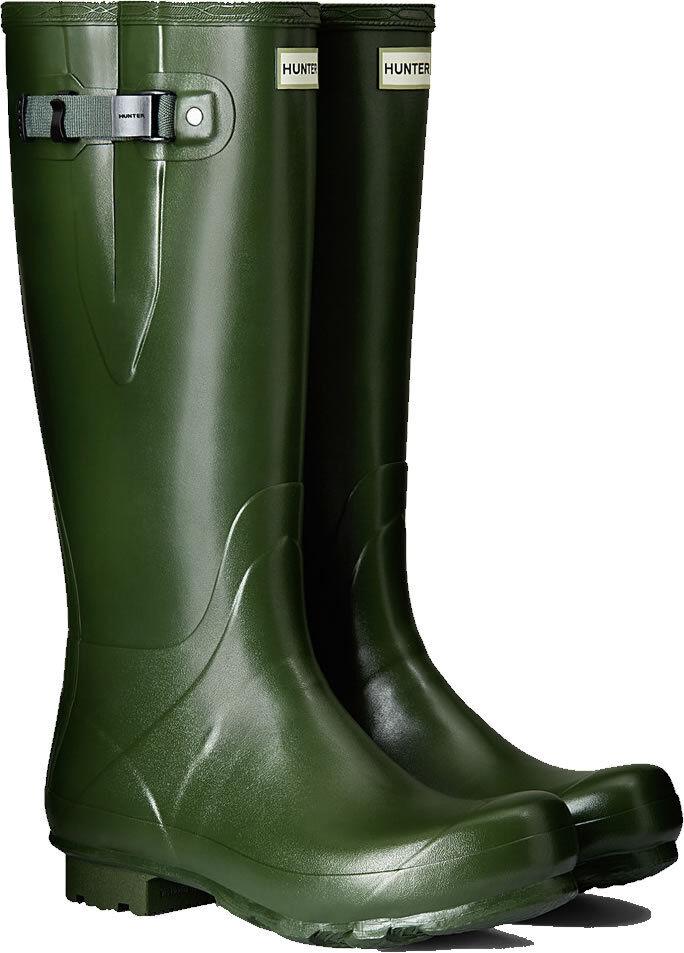 Hunter Norris Campo Stivali con regolazione laterali in verde Vintage Varie Taglie