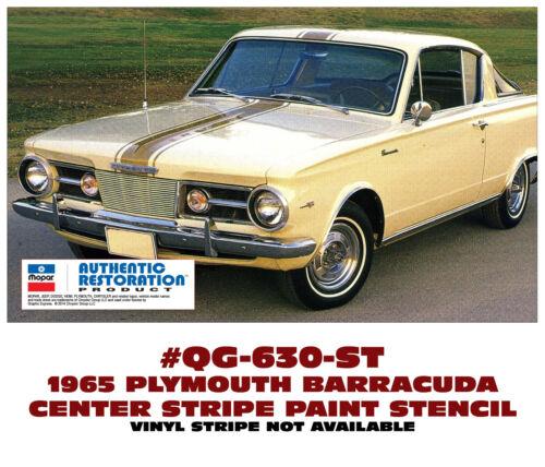 QG-630-ST 1965 PLYMOUTH BARRACUDA CENTER STRIPE PAINT STENCIL KIT