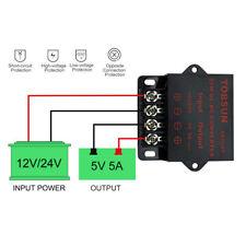 Dc 12v 24v To 5v 5a 25w Converter Regulator Power Supplies Transformer Converter
