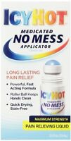 6 Pack Icy Hot No Mess Applicator Maximum Strength Pain Relieving 2.5 Fl Oz Each on sale