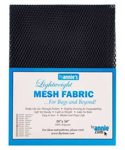 """Lightweight MESH FABRIC For Bags /& Beyond By Annie/'s One 18/"""" x 54/"""" Piece"""