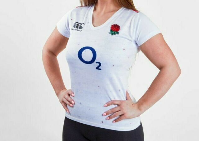 40d3fa93009 England Rugby Vapodri SS Home Pro Jersey Women's Bright White Sz 10 ...