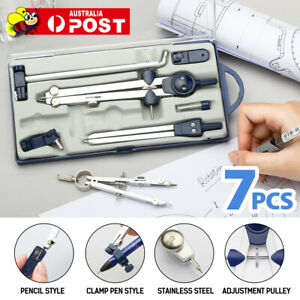School-Office-Drafting-Drawing-Compass-Set-Adjustable-Precision-Professional-AU