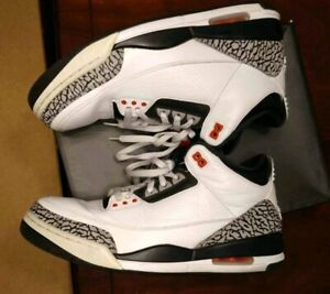 more photos 4ee12 5bf76 Details about Air jordan 3 retro infrared 23 size 12 db supreme white  cement bred