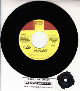 STEVIE-WONDER-Part-Time-Lover-7-034-45-NEW-vinyl-record-juke-box-title-strip