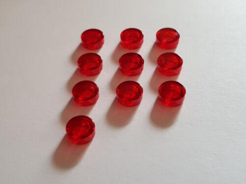 LEGO ® 10 x 98138 environ Carreau 1 x 1 Transparent Rouge 4646864 #tw81