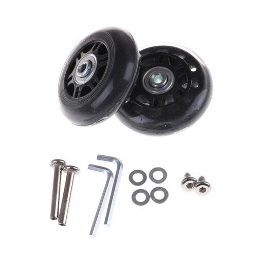 2pcs Luggage Suitcase Replacement Wheels Axles Repair Parts 70*24mm JQJ