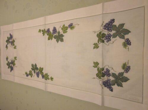 Tischdecken Handarbeiten blaue Trauben  ca.40x100cm