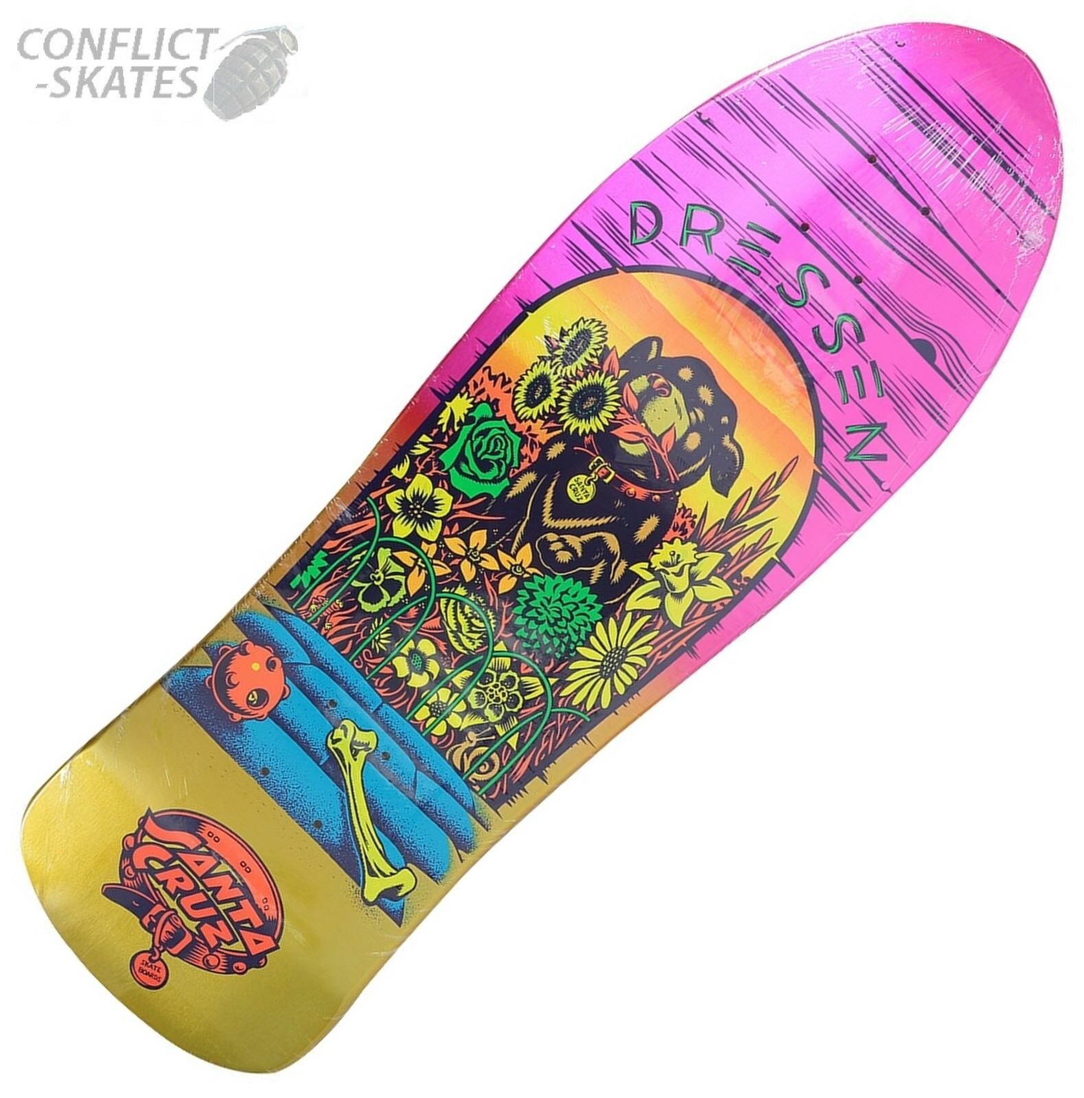 "SEA BRAWL REISSUE 9.35/"" Santa Cruz Skateboard Deck"