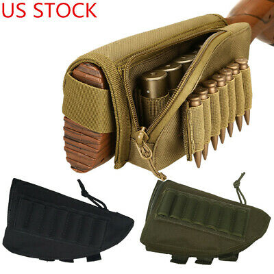 Leather Cartridge Ammo Holder Dual Pocket Pouch Shotgun Rifle 20 Ga 8 Slots