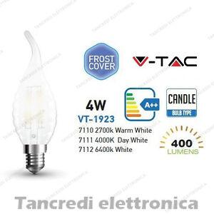 Lampadina-led-V-TAC-4W-40W-E14-VT-1923-a-fiamma-bianca-filamento-opaca-candela