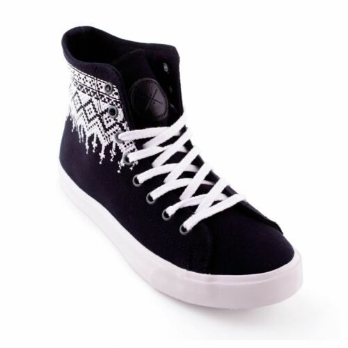 Inkkas Obsidian Vegan High Top Sneakers Ethical Comfy Durable