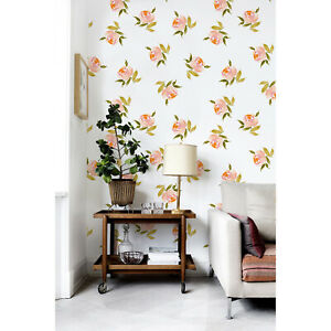 Removable-wallpaper-Small-Flowers-Floral-Peel-and-stick-Flowers-Home-Decor