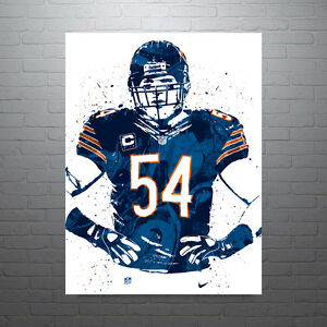 Brian Urlacher Chicago Bears Poster FREE US SHIPPING