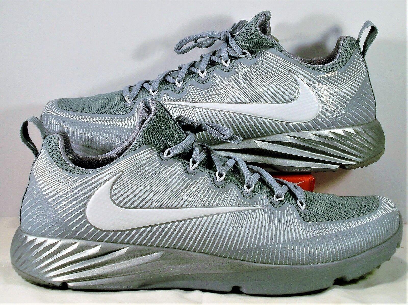 Nike Vapor Speed Turf LAX Wolf Grey 15 Football Trainer Shoes Sz 15 Grey NEW 833408 011 207306