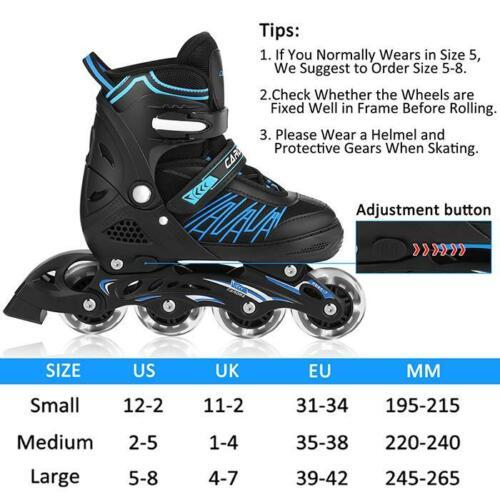 Details about  /Best New Inline Skates for Men Women Size 7 8 9 10 11 Adjustable Roller Blades/%