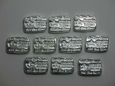 Monarch Metals MPM Ten Ounce 999 10 oz Silver Hand Poured Bar Kit Kat Loaf