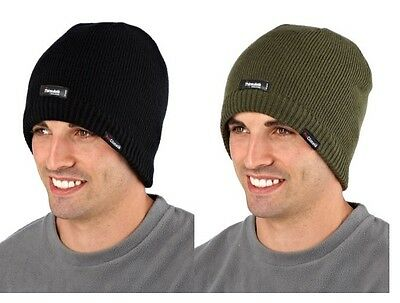 Pro Climate Waterproof Thermal Ski Hat / Beanie ~ Black or Green