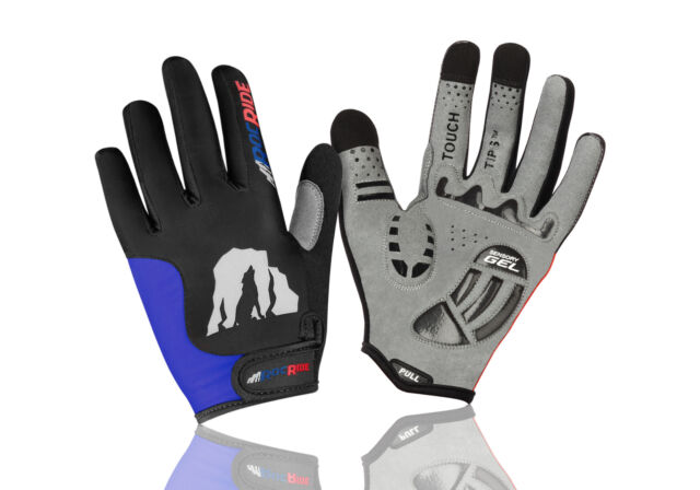 Cycling Mitt Gloves Short Finger Chiba Gel Comfort Active Black Medium