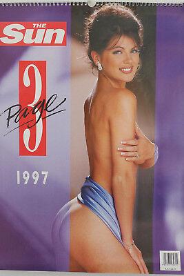 The Sun Page 3 1997 Calendar - Very Rare Collectors - ft Angela Lea (MINT!)