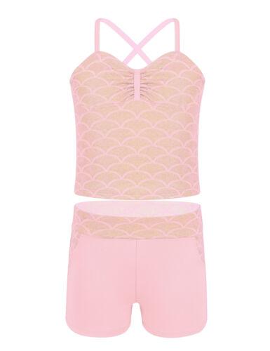 Girls Kids Mermaid Bikini Tankini Swimwear Swimsuit Swimming Bathing Costume Set