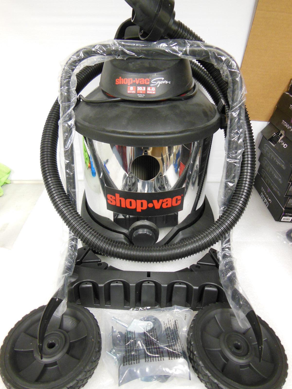 Shop Vac 8 Gallon Stainless Steel Wet Dry Vacuum 4.0 Peak HP (44441)