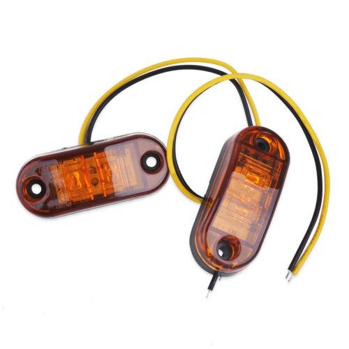 10x 2 LED ámbar aclaramiento Side Marker Light para remolque camión camión van 12V 24 V