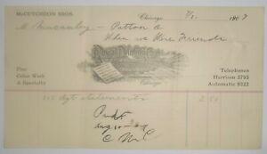 1907-Billhead-Illinois-Chicago-Royal-Printing-Engravers-McCutcheon-Brothers