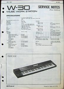 roland w 30 workstation keyboard original 1989 service manual rh ebay com Roland W-30 Backlight roland w30 user manual
