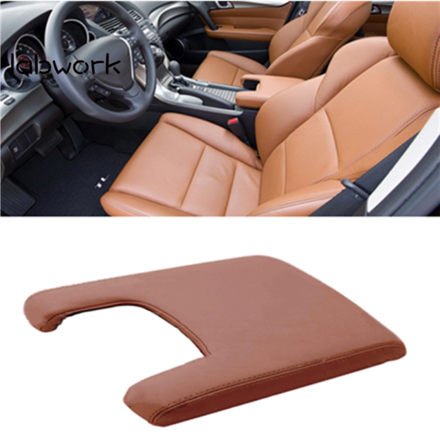Leather Armrest Center Console Lid Cover Fit For Acura TL