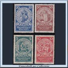 1924 Deutsches Reich Beneficienza Santa Elisabetta n. 344/347 Nuovi Integri **