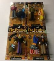 Set Of 4 Beatles Yellow Submarine Action Figures Mcfarlane Toys Free S/h