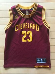 LEBRON JAMES Cleveland Cavaliers TODDLER Sz 6-7 ADIDAS JERSEY Boys ...