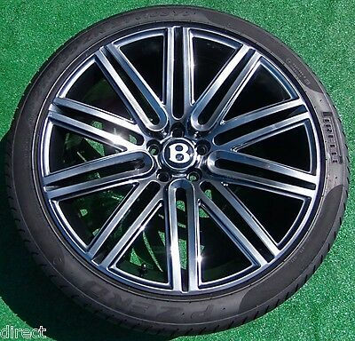 Perfect OEM Factory Bentley Continental GT Flying Spur SPEED 21 in WHEELS TIRES
