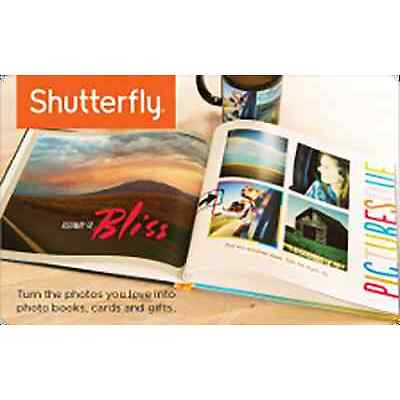 Shutterfly Gift Card - $25 or $50 - Email delivery