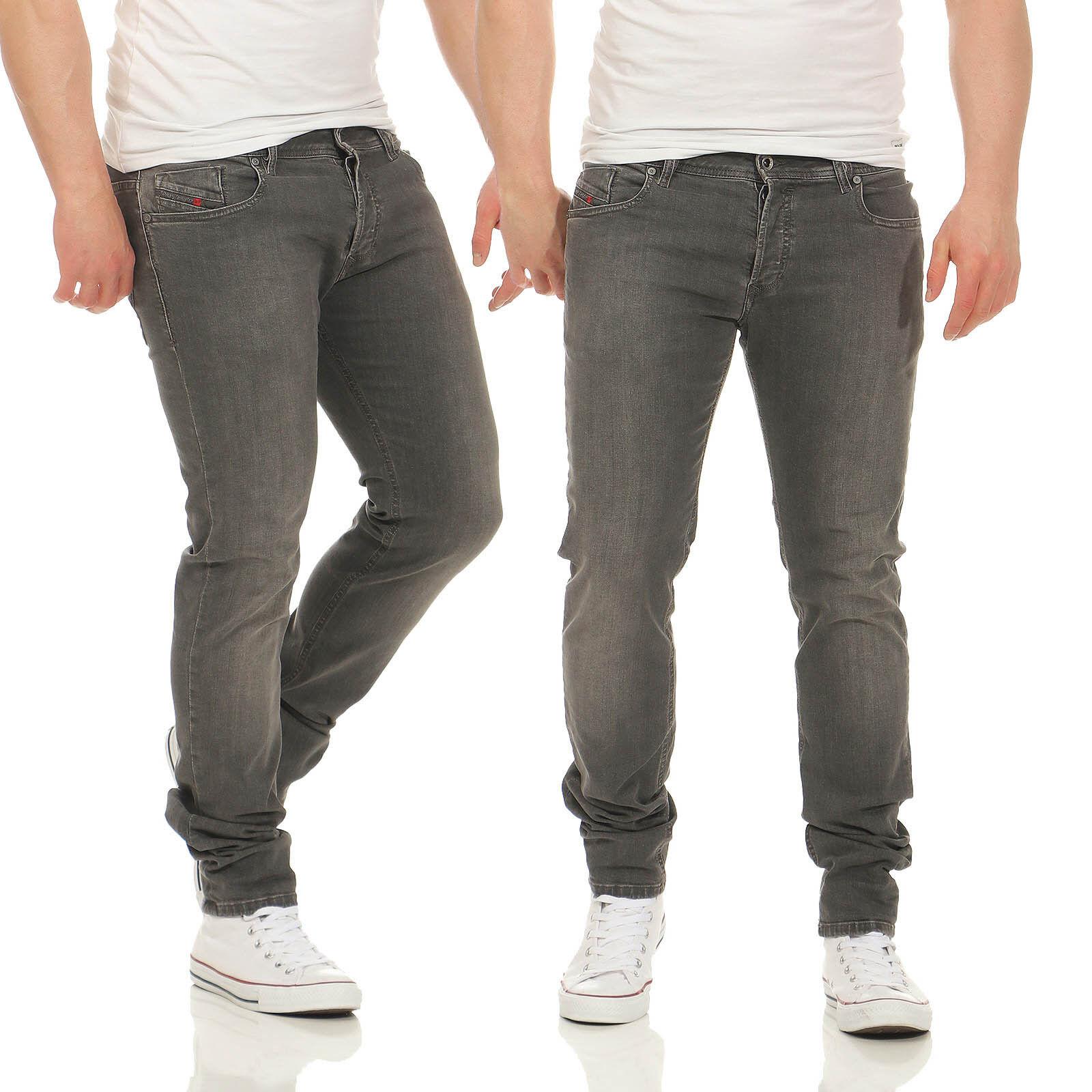 Diesel Jeans Sleenker 0678Z Herren Hose Slim Skinny Grau Stretch Röhrenjeans | Hervorragende Eigenschaften  | New Listing