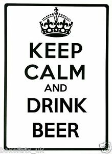KEEP-CALM-AND-DRINK-BEER-Wall-Art-Vinyl-Sticker-17-Colours-2-Sizes