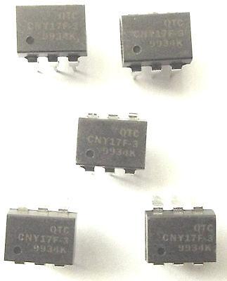 CNY17F-3 QTC Optocoupler DC-IN 1-CH Transistor DC-OUT 6-Pin PDIP  x5pcs