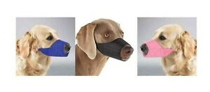 NYLON LINED MUZZLES for DOGS 3 Colors 9 Sizes Soft Dog Muzzle Collection
