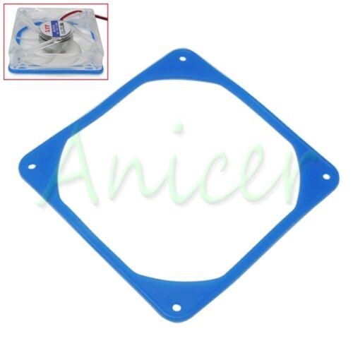 2pcs 120mm PC Fan Silicone Anti-vibration Gasket Shock Absorption Pad Blue