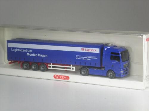 Wiking MAN TGX Sattelzug DB Logistik Montan Hagen Railport in OVP selten