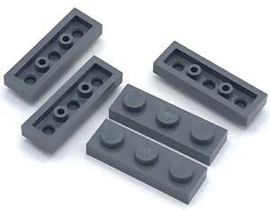 Lego 50 New Dark Bluish Gray Bricks 1 x 3 Stud Pieces Parts